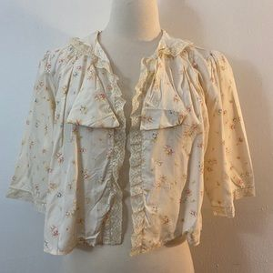 Vintage Late 1940's Bed Jacket, S/M